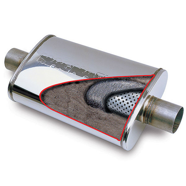 exhaust gas filter for mufflers with